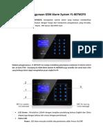 Petunjuk Singkat Penggunaan GSM Alarm System YL-007M2FX