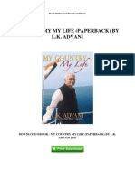 My Country My Life Paperback by Lk Advani