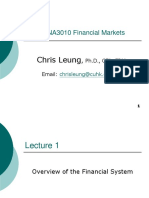FINA3010 Lecture 1