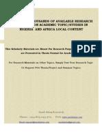 DOWNLOADTHOUSANDSOFAVAILABLERESEARCHMATERIALSONVARIOUSACADEMICTOPIC,STUDIESINNIGERIAANDAFRICALOCALCONTENT