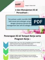 Kebijakan Dan Manajemen K3 Di Perusahaan - Mulai Penemuan Kebawah