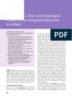 The Cephalic, Oral and Esophageal Phases of the Integrated Response to a Meal