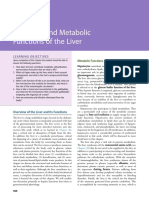 Transport and Metabolic Functions of the Liver