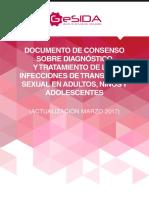 Diagnostico y Tratamiento de Las Infecciones de Transmision Sexual 2017