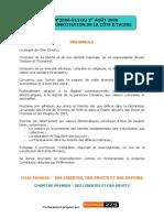 Constitution Ivoirienne 2000