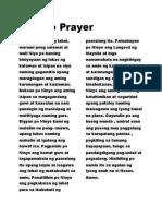Araullo Prayer