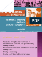 Lecture 6 - Traditional Training Methods