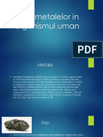 Rolul Metalelor in Organismul Uman