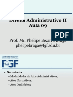 Aula 09.a - (ModaIidades Do Ato Adm) Administrativo II