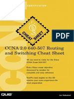 Joe Habraken CCNA 2.0 640-507 Routing and Switching Cheat Sheet