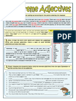 Extreme Adjectives Worksheet