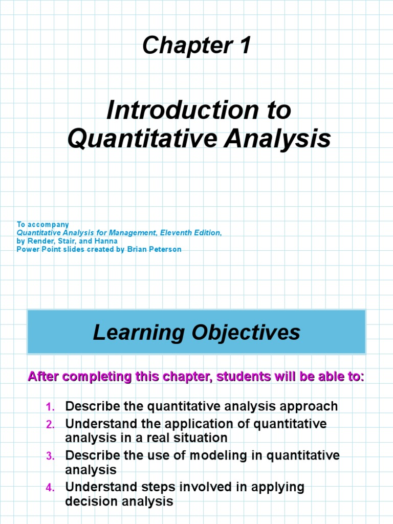 ch01_introduction to quantitative analysis ppt   Level Of
