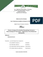Etude Et Analyse Dun Systeme Energetique de Source Photovoltaique Et Thermique Application a Une Habitation Individuelle
