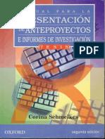 Corina Schmelkes - MANUAL PARA LA PRESENTACIÓN DE ANTEPROYECTOS (2a Ed.)