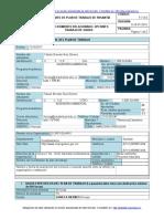F-7-9-5 Formato Plan de Trabajo Pasantia