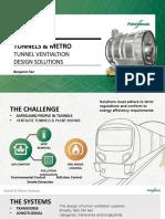 Tunnel ventilation design solution