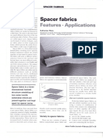 Spacer Fabrics-features and Applications