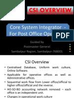 CSI Overview