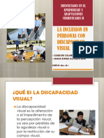 Inclusión a personas con discapacidad visual