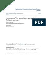 Assessment of Corporate Governance in Jordan- An Empirical Study