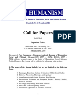 New Humanism Call for Papers_December 2016-1
