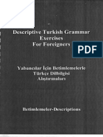 Descriptive Turkish Grammar Exercises for Forei