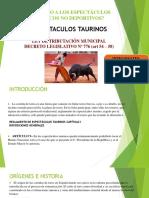 Espectaculo Taurinos