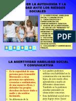 2.4.Asertividad y Riesgos Sociales