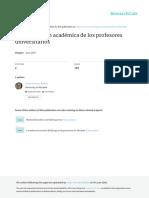 2007 La Satisfacción Académica de Los Profesores Universitarios