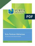 Buku Panduan Mahasiswa Universitas Surya Tahun Akademik 2016-2017