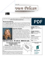 September-October 2009 Brown Pelican Newsletter Coastal Bend Audubon Society