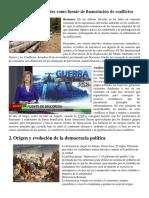 Los Recursos Naturales Como Fuente de Financiación de Conflictos, Origen y Evolucion de Ls Democracia Politica