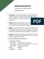 Memoria Descriptiva Sub Division - Copia