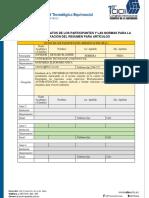 Normas Para La Elaboración Del Resumen Del Artículo