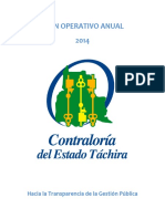 Plan Operativo Anual de Tachira 2014