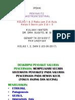 1 KULIAH I IPDHK Genap 2016-17 (Penyakit2 Gastrointestianal)