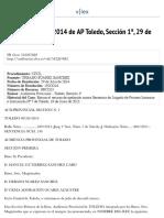 Sentencia nº 130:2014 de AP Toledo, Sección 1ª, 29 de Julio de 2014 - vLex Civil-Mercantil