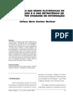 A Evolução Das Redes Eletrônicas de Comunicação e o Uso Estratégico de Intranet Por Unidades de Informação