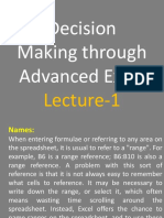 Advanced Excel Lecture 01