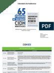 Calendario Audiencias Públicas de la CIDH en Montevideo