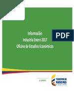 Analisis Subsectores Industria Colombia Hasta Enero 2017