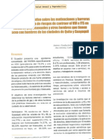 Diagnóstico formativo para reducción de riesgos de contraer el VIH e ITS