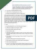 Sistemas Representativos de La Programación Neurolinguistica