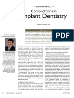 Complications in Implant Dentistry