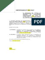 Certificado de Afiliacion y Vigencia Cercat