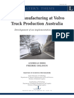 Lean Manufacturing at VolVo Truck Production Australia