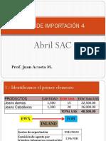 CASO DE IMPORTACIÓN° 4