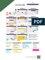 Calendario 2017-18 Vertical