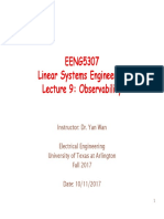 Lecture 9 Observability