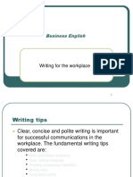 Business English - Writing for the Workplace2